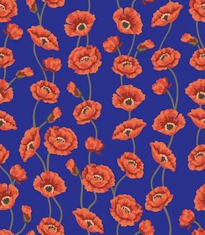 Motif floral sans couture avec des fleurs en vecteur.