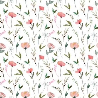 Motif floral sans couture avec de magnifiques fleurs sauvages rouges