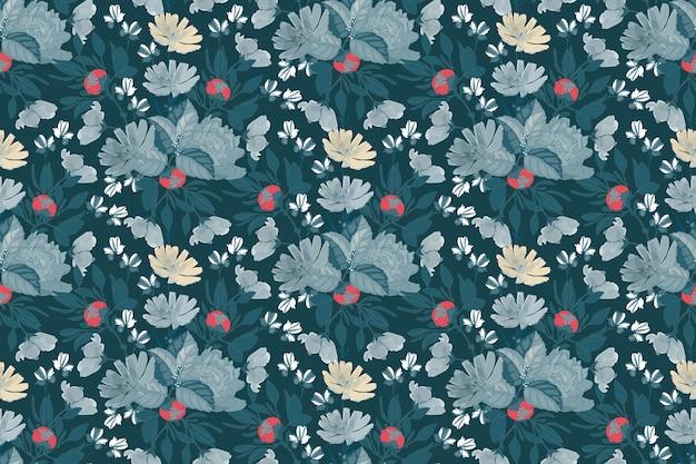 Motif floral sans couture avec pivoine, chicorée.