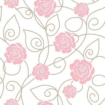 Motif floral sans couture avec des roses