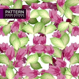 Motif floral sans couture vert et rose