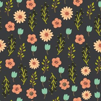Motif floral sans couture