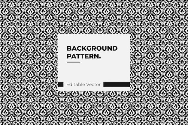 Motif floral sans soudure. abstract vector texture damassé noir