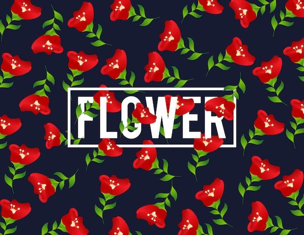 Motif floral sans soudure. concept romantique