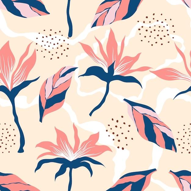 Motif floral sans soudure.