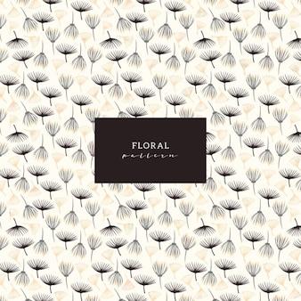 Motif floral simple