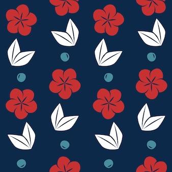 Motif floral de style japonais sans soudure