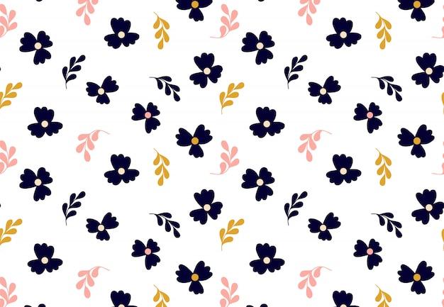 Motif floral. texture vectorielle continue avec des fleurs pour des impressions de mode ou du papier peint.