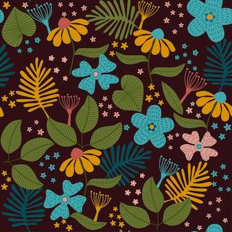 Motif floral tropical sans soudure.