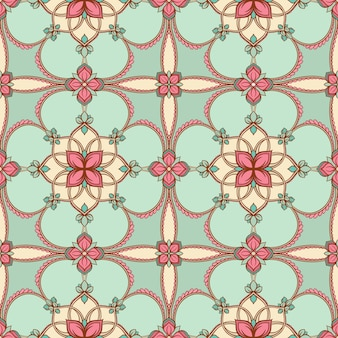 Motif floral turquoise