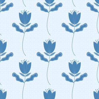 Motif floral de vecteur dans un style élégant