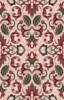 Motif floral de vecteur. ornement abstrait en filigrane. modèle coloré pour textile, papier peint, tapis.