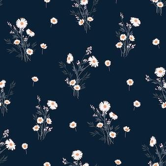 Motif floral de vecteur de printemps sans couture avec marguerites