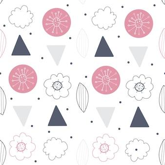 Motif floral vectorielle continue. fond scandinave