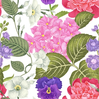 Motif floral vectorielle continue.