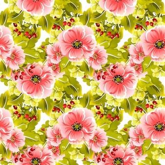 Motif floral vectorielle continue