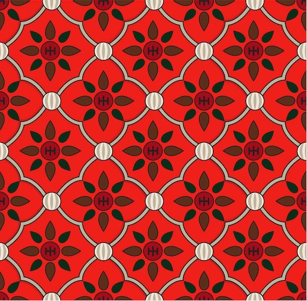 Motif floral vintage inspiré par la grammaire d'ornement