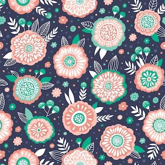 Motif floral vintage sans soudure