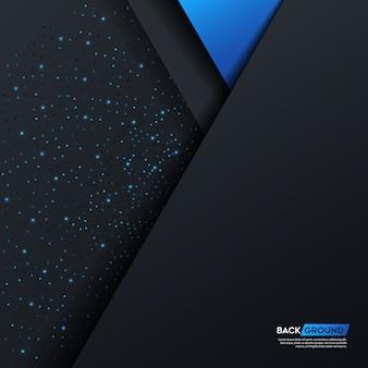 Motif de fond abstrait bleu foncé