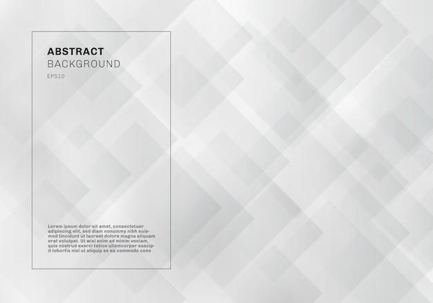 Motif de fond abstrait carrés géométriques blancs