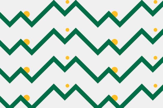 Motif de fond coloré, zigzag vert, vecteur de conception créative