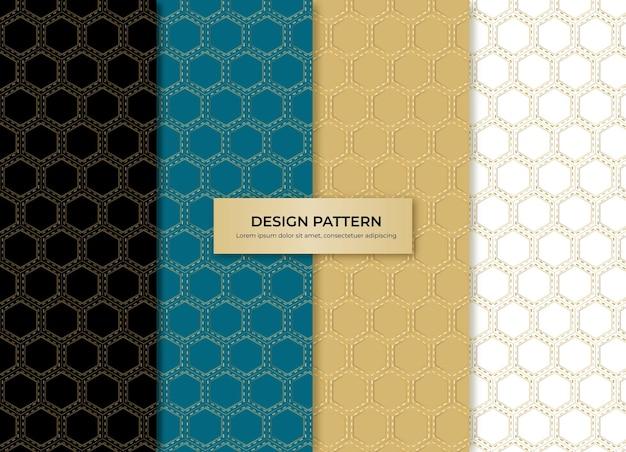Motif de fond de conception en nid d'abeille