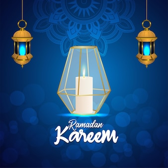 Motif de fond créatif d'illustration vectorielle ramadan kareem sur fond créatif