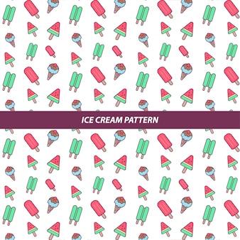 Motif de fond de crème glacée de vecteur