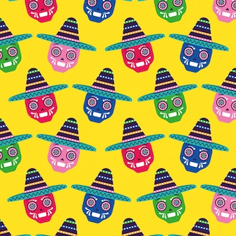 Motif de fond du mexique