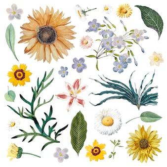 Motif de fond floral
