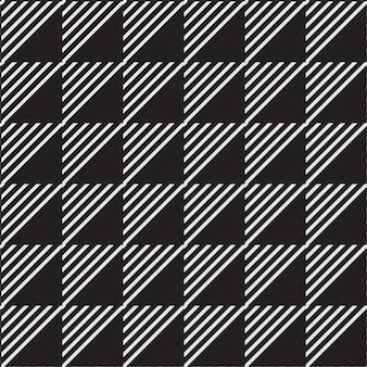 Motif de fond géométrique sans couture ligne et triangle
