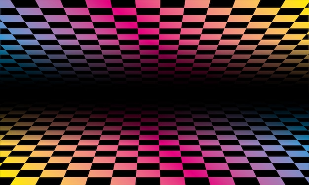 Motif de fond de grilles colorées.