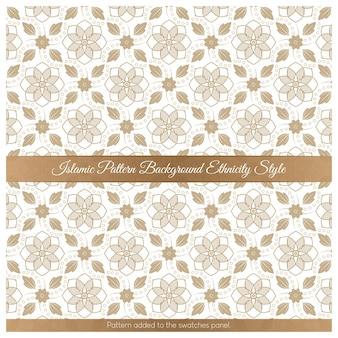 Motif de fond islamique origine ethnique brun style