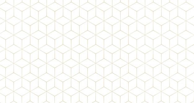 Motif de fond de ligne hexagonale élégante