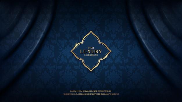 Motif de fond de luxe d'art thaïlandais pour la décoration