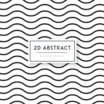 Motif de fond noir et blanc abstrait vecteur 2-d
