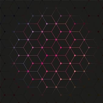 Motif de fond de polygone coloré