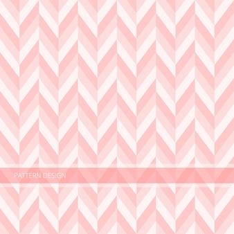 Motif de fond sans couture moderne abstrait rose doux chevron vector design.