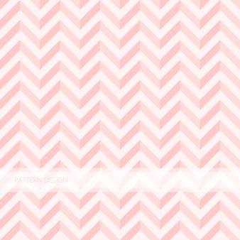 Motif de fond sans couture moderne abstrait rose doux zigzag vector design.