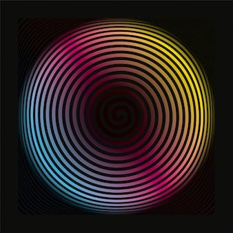Motif de fond en spirale colorée