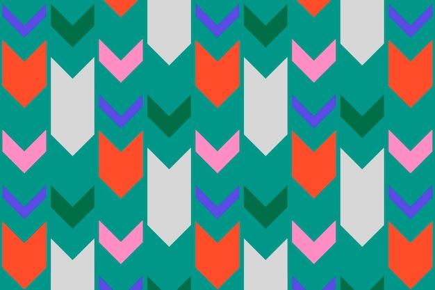 Motif de fond tribal, zigzag vert, vecteur de conception créative