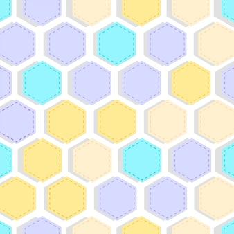 Motif en forme d'hexagone.