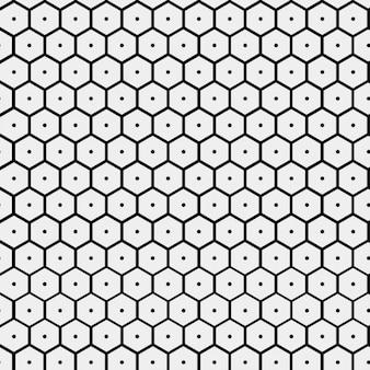 Motif avec la forme ruche