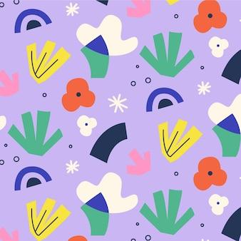 Motif de formes abstraites de style plat
