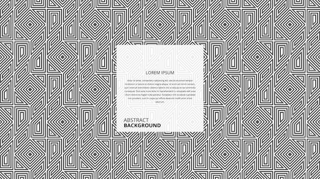 Motif de formes carrées diagonales décoratives abstraites