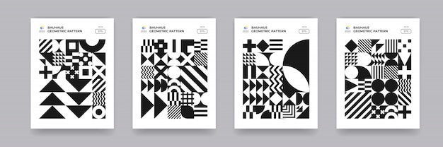 Motif de formes géométriques abstraites