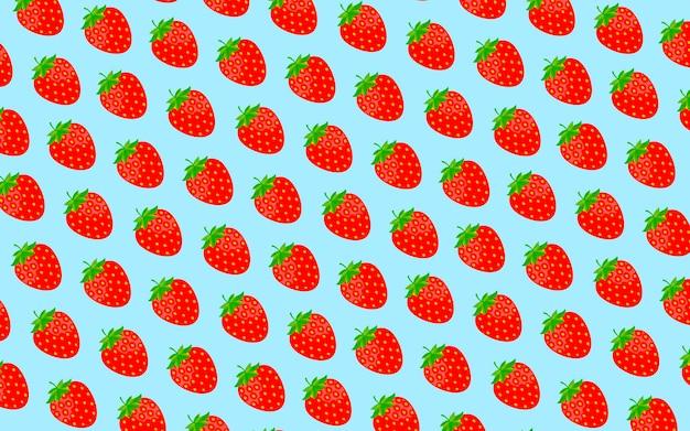 Motif de fraises de dessin animé.