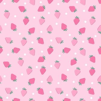 Motif de fraises fraîches