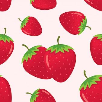 Motif de fraises vectorielle continue