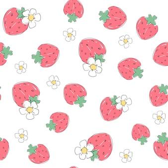 Motif de fraises